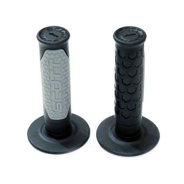 SCOTT GRIP FUSION II stūres rokturi, melns / pelēks