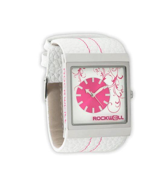 ROCKWELL MERCEDES rokas pulkstenis, ar baltu siksniņu