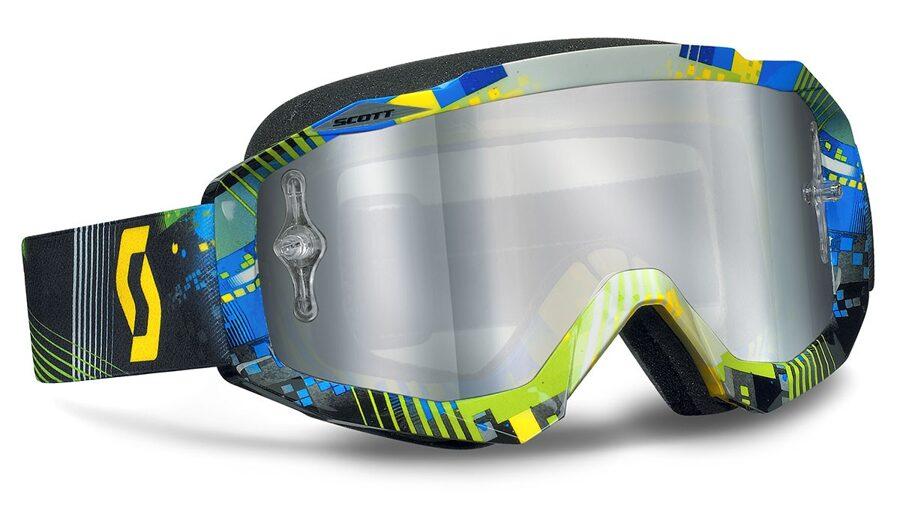 SCOTT MX HUSTLE brilles motosportam, zilas/zaļas